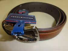 Tommy Hilfiger Men's Faux Leather Belt, Brown, 42