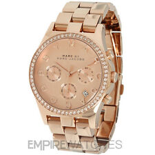 *NEW* MARC JACOBS LADIES HENRY GLITZ ROSE GOLD WATCH - MBM3118 - RRP £269