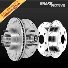 FRONT REAR DRILLED AND SLOTTED PERFORMANCE BRAKE ROTORS 2WD Ford F150 Lincoln