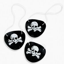 12 Felt Skull Pirate Eye Patches Birthday Party Toy Favors Costume Dress Up