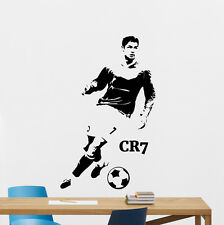 Cristiano Ronaldo Wall Decal Football Vinyl Sticker Soccer CR7 Decor Mural 18nnn
