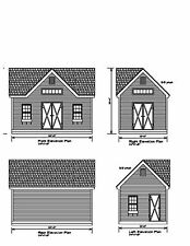 SHED PLANS 20'X12 DRAWINGS BLUEPRINTS SHED 12'X20' WORKSHOP STORAGE SHD2012gbldm