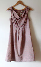 JOULES Tom Joule Collection Pink Ditzy Linen Blend Adele Dress Size 10