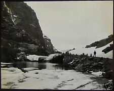 Glass Magic Lantern Slide MOUNTAIN LAKE C1890 PHOTO SOUTH NORWAY NO53
