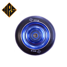 1X PRO STUNT SCOOTER BLUE SOLID METAL CORE WHEEL 110mm 88A ABEC 9 BEARINGS 11