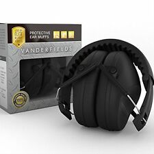 Noise Blocking Headphones/Earmuffs-Yard Work Studying Hearing Protection Black