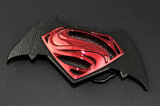 BATMAN VS SUPERMAN BLACK RETRO BELT BUCKLE DC COMICS SUICIDE SQUAD