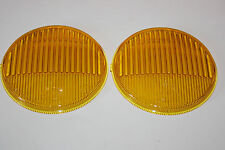 PORSCHE 911 912 MERCEDES SET YELLOW FOG LIGHT LENSES HELLA