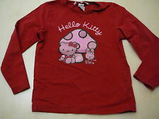 H & M HELLO KITTY superbe chemise manches longues taille 104 rouge!!!