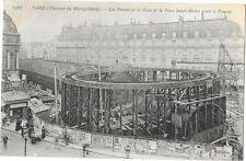 PARIS (75) travaux construction du chemin de fer métropolitain Saint Michel