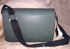 New Men's Jack Spade Messenger Bag Barrow Leather In Green NWT$398