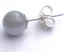 SINGLE STERLING SILVER BLUE LACE AGATE SMALL 6mm.BALL STUD EARRING  £3.50  NWT