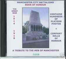 GENEALOGY DIRECTORY MANCHESTER CITY BATTALIONS CD ROM