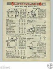 1925 PAPER AD 14 PG Pexto Sheet Metal Workers' Working Tools Beader Blow Torch