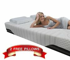 10 inch FULL Cool MEDIUM SOFT Memory Foam Mattress Bed With 2 FREE GEL Pillows