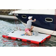 "Aqua Marina Island Inflatable Air Platform Dock 8'2"" L x 5'3"" W supports 584 lbs"