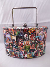 Custom Comic Book Womens Hard Case Bag - Poison Ivy/Harley Quinn/Bat Girl/Katana