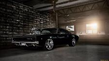 "1968 Dodge Charger Hot Rod Muscle Car Mini Poster 13""x19"""