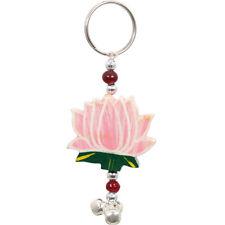 Impresionante Rosa De Madera Flor De Loto Llavero-Reino Unido Vendedor-post de todo el mundo