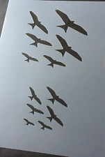 Birds Flying Animal A4 Mylar Reusable Stencil Airbrush Painting Art Craft