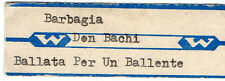 STICKER JUKE BOX - DON BACKY - BARBAGIA - BALLATA PER UN BALLENTE WURLITZER