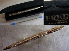 TERRIFIC pattern SOLID GOLD WATERMAN CF hand made By FRED jeweler ball pen
