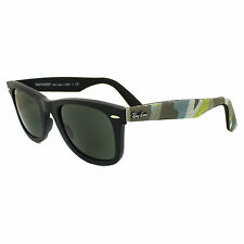 Ray-Ban Sunglasses Wayfarer 2140 6065 Matt Black Camo Green Medium 50mm