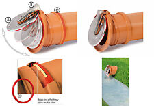 110mm Non Return Flap Valve Rodent Barrier Backflow Prevention Backwater