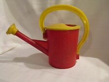 CHILDS PLASTIC WATERING CAN - FLOWER DIFFUSER - RED & YELLOW