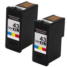 2 Combo Pack Ink for Lexmark 43XL Color X7550 X7675 X9350 X9575 Z1520