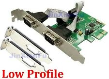 Low Half Profile PCI-express Serial Card 2 Ports PCI-E DB9 RS232 Com adapter