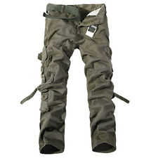 Mens Military Tactical Outdoor Work Camo Pants Army Style Cargo Combat Trousers