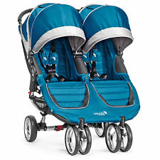 Baby Jogger 2016 City Mini Double Stroller - Teal/Grey - New! Free Shipping!
