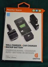 iPhone 5 & 6 Griffin PowerDuo Reserve Car/Wall Charger/Backup Battery