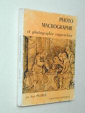 livre MACRO PHOTOGRAPHIE Jean Pilorgé tout le matériel macro 1963 photo