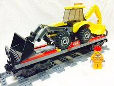 Lego Train City Heavy Haul Tractor Flatbed + Figure 60052/60098/7939/3677 Mint