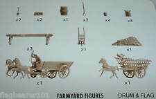 NAPOLEONIC FARM ACCESSORIES. AIRFIX BATTLE OF WATERLOO. 1/72 SCALE