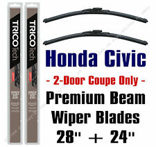 Wiper Blades 2-Pack Premium - fit 2006-2015 Honda Civic 2-Door Coupe - 19280/240