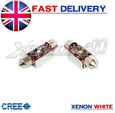2x SUPER WHITE 5W CREE LED CANBUS BULBS NUMBER PLATE LIGHT BMW E46 COUPE & M3