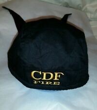 New w/Tag Embroidered CDF FIRE  Logo Du-Rag Magic Headwear Black/Gold Cap