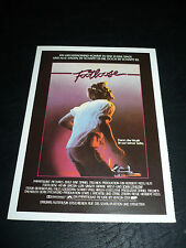 FOOTLOOSE, film card [Kevin Bacon, Lori Singer, John Lithgow]