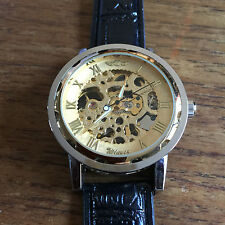New Skeleton Mechanical Mens Wristwatch W18 - Working - Fast Delivery