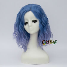 13 Colours 35cm Lolita Curly Heat Resistant Halloween Medium Long Cosplay Wig