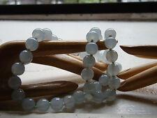 antique 20 inch necklace JADEITE/ jade ICE BLUE translucent w/14k RE-STRUNG!