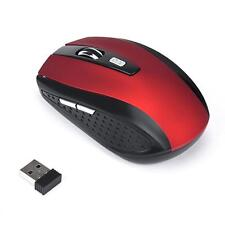2.4GHz Wireless Mouse USB Optical Scroll Mice Red for Tablet Laptop Computer
