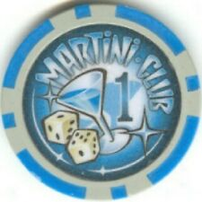 3 pc 3 color set 13.5gm MARTINI CLUB poker chips samples #119
