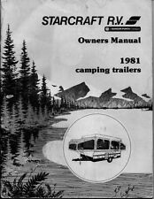 1981 Starcraft Folding Camping Popup Trailer Owners Manual