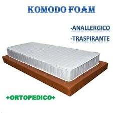 MATERASSO SOTTOVUOTO 80X190 IN WATERFOAM POLIURETANO INDEFORMABILE SINGOLO