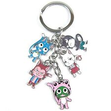 Anime Fairy Tail Lucy Keychain Five Animal Include the Cat & Mouse & Frog & Fox