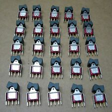 Lot of 25 C&K 7101 Rocker Switches SPDT 7101J1V3BE Vertical - Gold Contacts